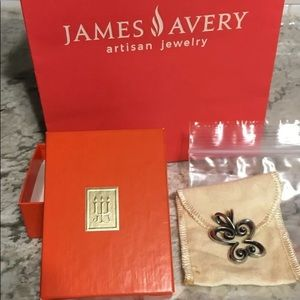 James Avery Silver Sculpted Butterfly Pendant